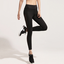 2017 Fashion Black Mesh Splice Leggings Harajuku Athleisure Fitness Clothing  Elastic Sporting Leggings Women Pants
