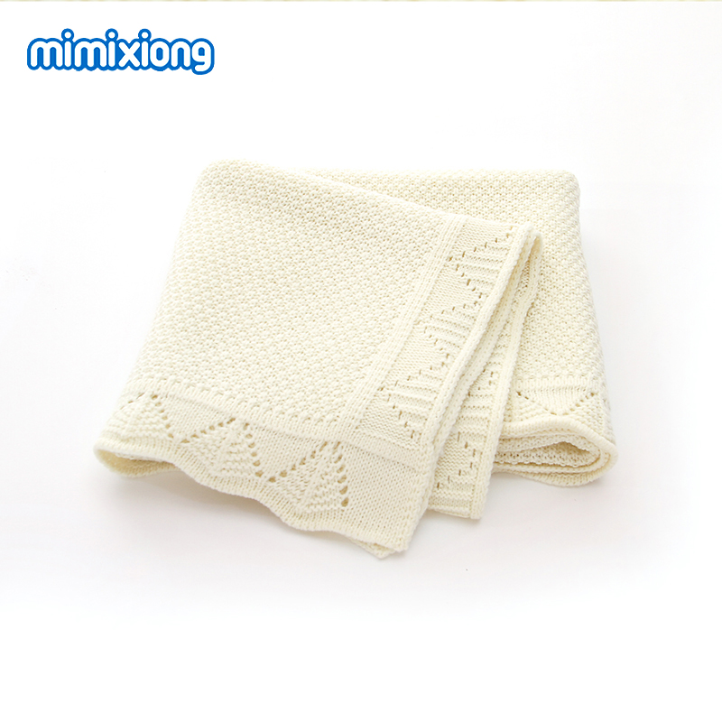 Baby Blankets Knitted Solid Newborns Bebes Swaddle Wrap Blankets 100*80cm Infantil Boys Girls Stroller Bedding Covers Quilts