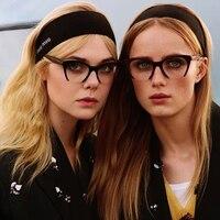 KOTTDO Mode Halb Rahmen Vintage Cat Eye Brille Brillen Frauen Lesen Myopie Gläser Optische Gläser für Unisex Brillen-in Brillenrahmen aus Kleidungaccessoires bei