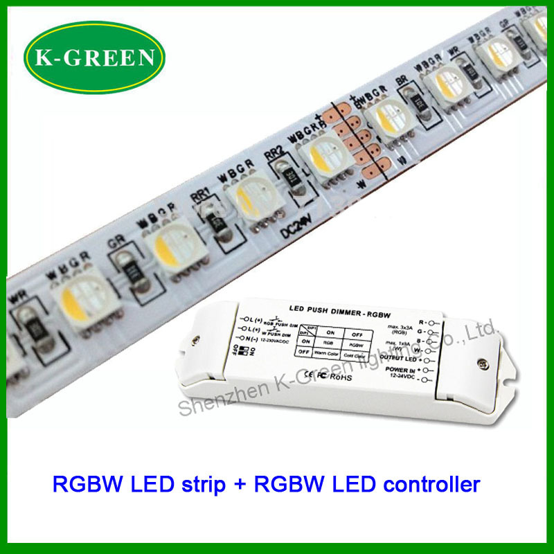 ФОТО 1Set X Hot sales 5050SMD 60LED/m 5m/Roll 12V / 24V RGBW LED strip + RGBW LED controller free shipping