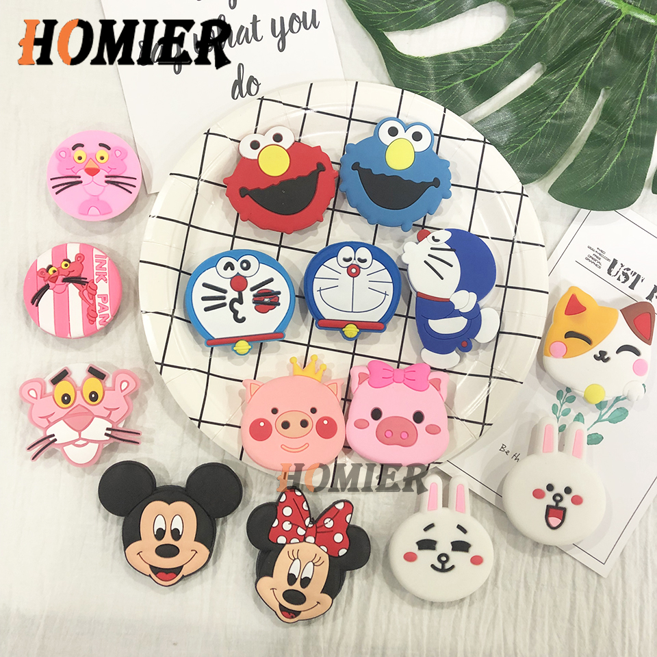 Universal Phone Stand Bracket Expanding Stand Stretch Grip Phone Holder Finger Cute Cartoon Stand For Iphone 6 7 8 X XS