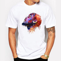 2016 Summer Fashion Kevin Durant Oil Painting Style Design T Shirt Men S High Quality Custom