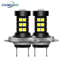 CARBINS 2 шт. H8 H11 H4 Led HB3 9005 HB4 9006 Противотуманные фары лампы 3030SMD H4 Белый вождение автомобиля ходовая лампа автоматические светодиоды свет 12 В 24 В