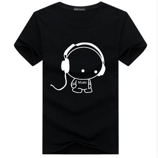 Fashion Cartoon Headset T Shirts8