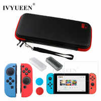 IVYUEEN for Nintend Switch NS Console Carrying Storage Bag Tempered Glass Screen Protector Shell + Silicone Case for Joy-Con