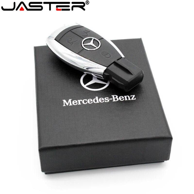 JASTER de moda caliente creativo plástico U disco Mercedes llave USB + caja USB 2,0 GB/4 GB/8 GB /GB/16 GB/32 GB/64 GB de memoria
