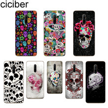 ciciber Sugar Skull Phone Case For Oneplus 7 Pro 1+7 Pro Soft TPU Cover for Xiaomi 9 Coque For Redmi Note 7 6 Pro Fundas Shell