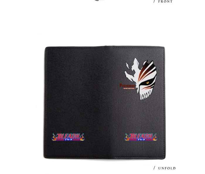 Men Cool Long Purse Black Carteira for Boys and Girls Anime Wallet Bleach (10)