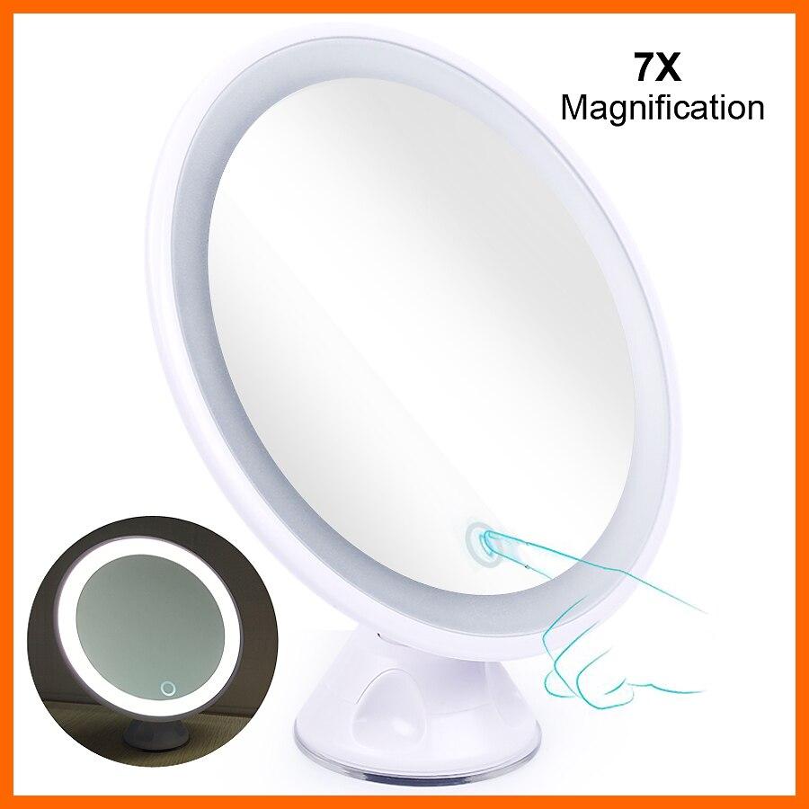 Schönheit & Gesundheit FäHig 5x 7x Vergrößerungs Spiegel Sucker Make-up Spiegel Led Licht Touch Usb Lade Kosmetische Spiegel Flugzeug/stand/eitelkeit Spiegel Machen Up Haut Pflege Werkzeuge
