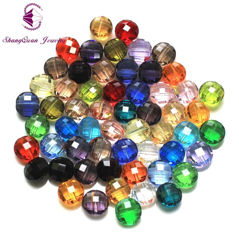 100pcs 10mm 40fa AAA Quality Decorative Crystal Bead Rhinestone ...