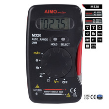 High Quality Mini Pocket Size Auto Range Handheld Digital Multimeter M320 DMM Frequency Capacitance Measurement Data Hold