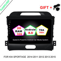 FUNROVER Android 8 0 2 32G Quad Core Headunit Car DVD Player For KIA Sportage 2014