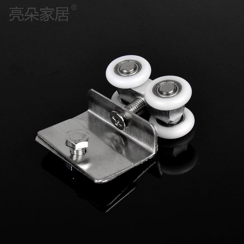 bao con ducha de cristal puerta corredera polea colgando ruedas de mainland