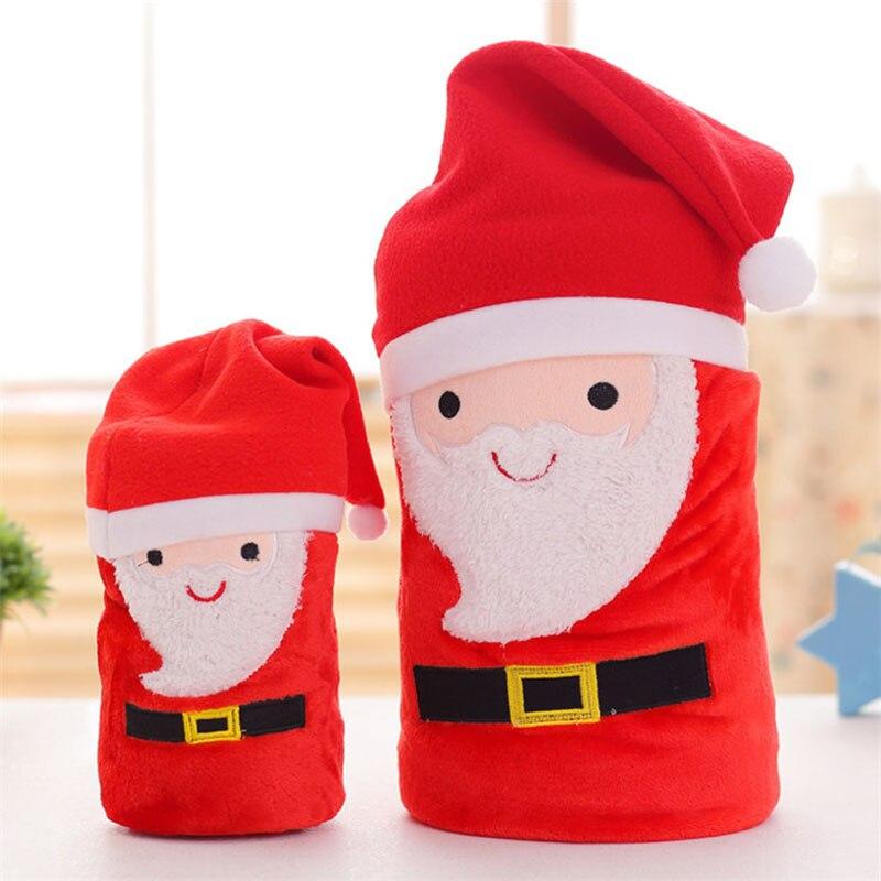 FashionMove Christmas Gift Coral Fleece Blanket Throws on Sofa/Bed/Plane Santa Claus, elk, snowman Travel Plaids Blanket