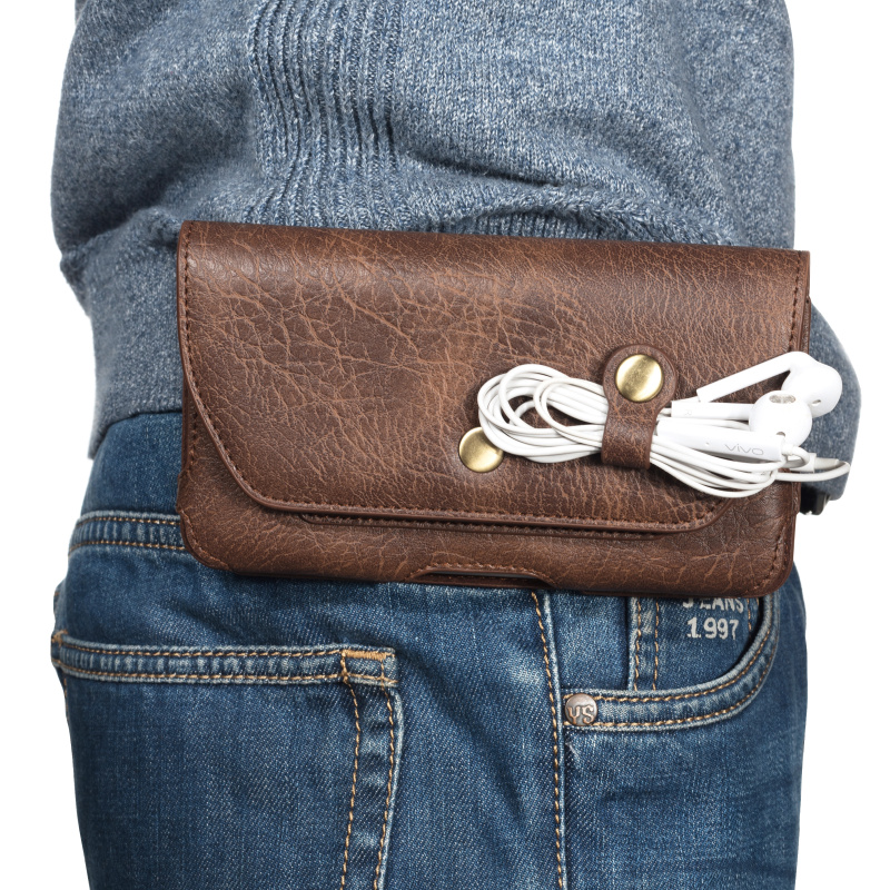 Belt Bag Men Waist Pack Money Belt Purse Fanny Bag Small Waist Pouch For 4.7 5.2 5.5 5.7 5.8 6.0 Inch Mebile Phone MINI CASE Bag