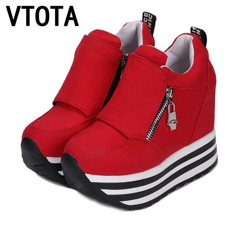 VTOTA ShoesTrainers Aumento de la Altura Cuñas Plataforma de Las Mujeres Zapatos