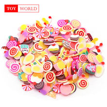 Plasticine additives soft for Clues slime Fluffy Miniature slices Ceramic Fruit Butterfly christmas Lizun Supplies Child gift(China)