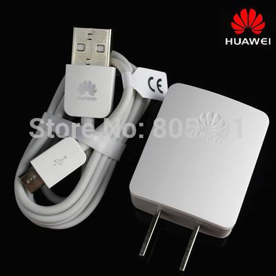 NEW Original Battery Charger 1A EU/US Adapter For Huawei P7 P6 Honor 6/5 6P 3C 3X 4X G8 Phone Travel Wall Charger+V8 Cable