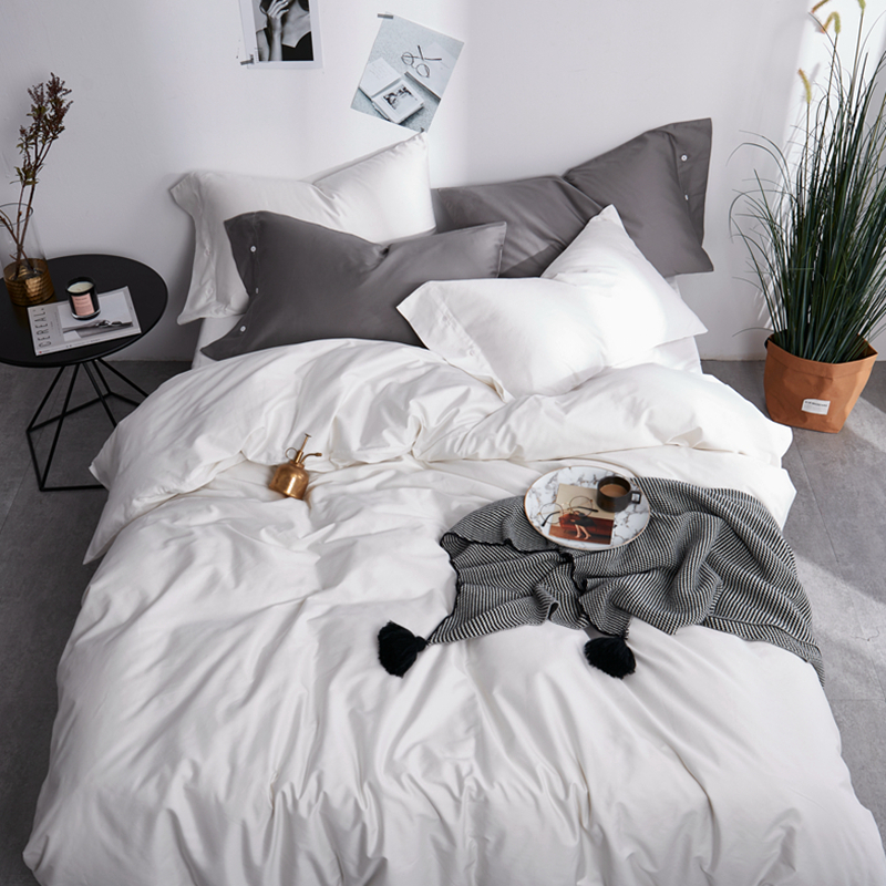 60S Egyptian cotton 5 star hotel Wedding luxury bedding set double queen king size bed sheet