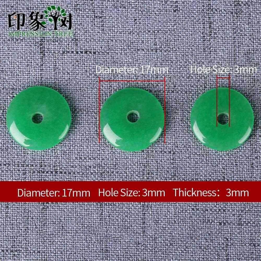 Handgemachte Malaysische Jad e Donut Form Bead Flache Runde Glatte Anhänger 2 stücke 17X3mm Fit Halskette DIY für Schmuck, Die DIY 18009