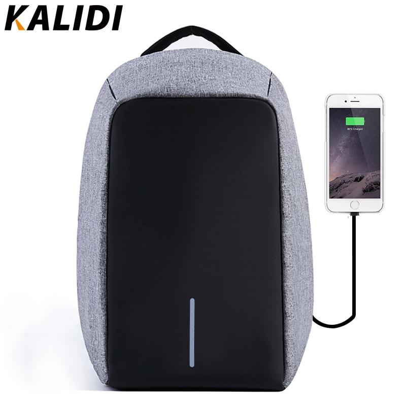 KALIDI 15 дюймов Противоугонный ноутбук рюкзаки мужские usb зарядка для подростка Упаковка Кубики путешествия рюкзак водостойкий рюкзак