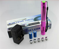 ¡Super poderoso! Quemador 100000m 100W 5in1 450nm puntero láser azul quemadura vela encendido cigarrillo malvado Lazer + caja de regalo 3026