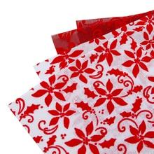 20*34 см, рождественские флокированые с цветами, льняная ткань, ткань с принтом, швейная стеганая ткани для пэчворка, рукоделие DIY, 1Yc6249