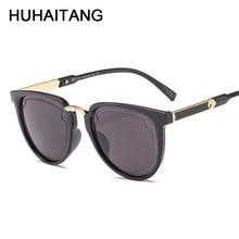 HUHAITANG 2019 Designer Brand Luxury Sunglasses Women Vintage Cat Eye Sun Glasses For Men Classic High Quality Outdoor Sunglass