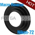 wholesale Fotga 72mm Macro Reverse Adapter Ring For NIKON D700 D300 D200 D3000 D90 D80 D3100 D5000 D7000 Camera Body