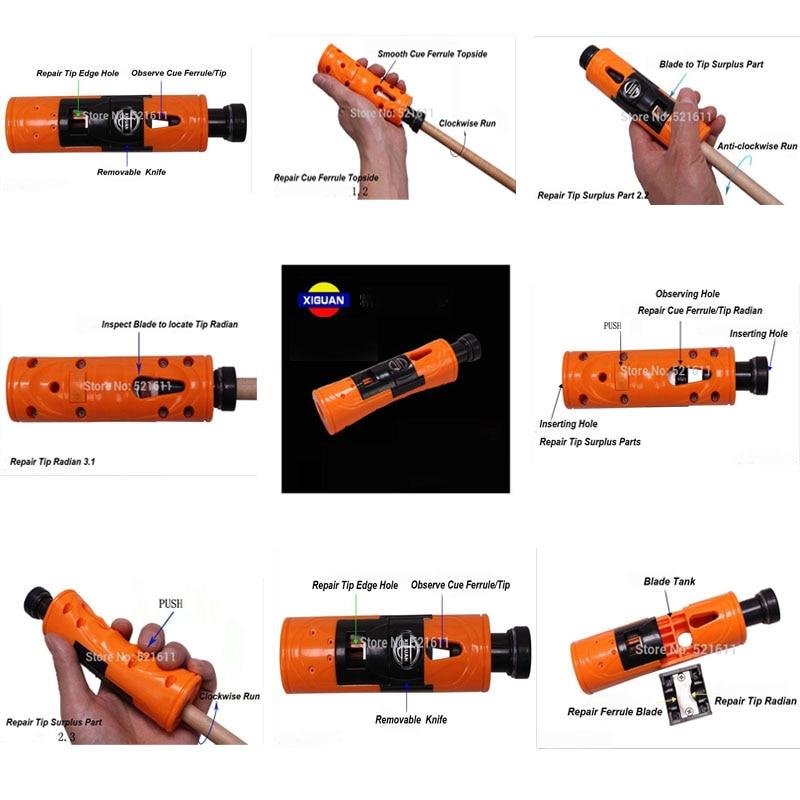 Original XIGUAN Multi functional Tip repairer tool Billiard Pool Cue Ferrule and Cue tip Repairer tools