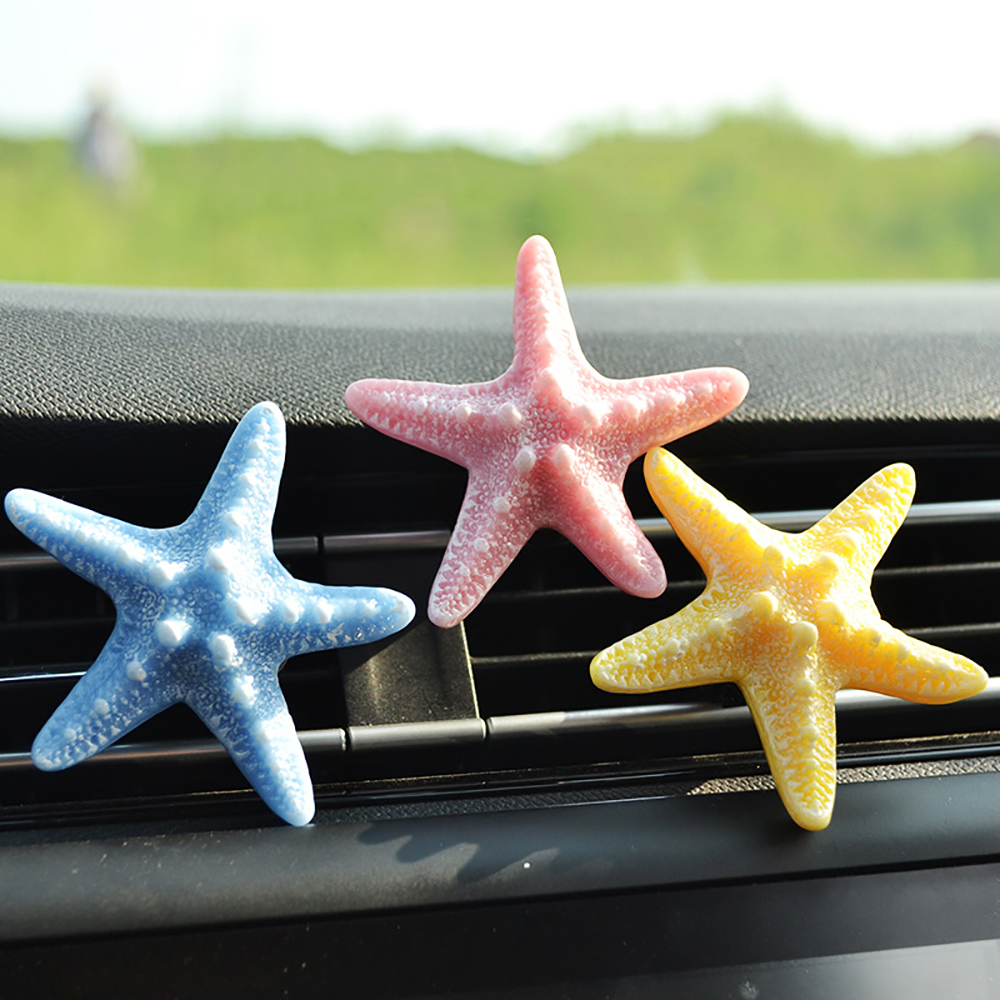 Car Freshener 3D Simulation Starfish Perfume Clip Aroma Diffuser Cute Auto Air Conditioner Outlet Fragrance Smell Freshener Gift