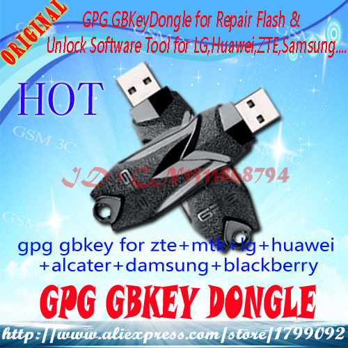 US $113 09 |free shipping GPG GBKey Dongle for Repair Flash & Unlock  Software Tool for LG,Huawei, ZTE, Alcatel,,Samsung Phones Smart GSM-in  Telecom