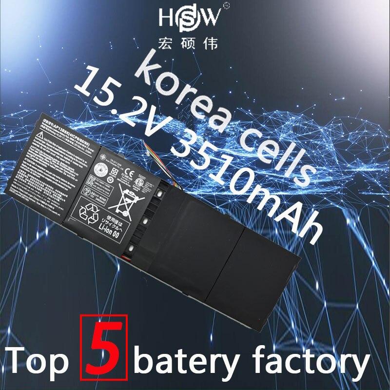 HSW 53wh 15.2 v AP13B8K KT00403015 Batterie pour ACER Pour Aspire R7 V5 V7 ES1-511 M5-583P R7-571 V5-473G V5-573P V7-481 v7-481G