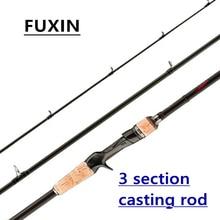 Fuxin Ultra Light Fishing Rod Travel 3-Section Lure Rod Bait Spinning Casting Fishing Rod 1.8m 2.1m 2.4m 2.7m 5g-40g M/ML/MH спиннинг cottus viper spin mh 15 40g