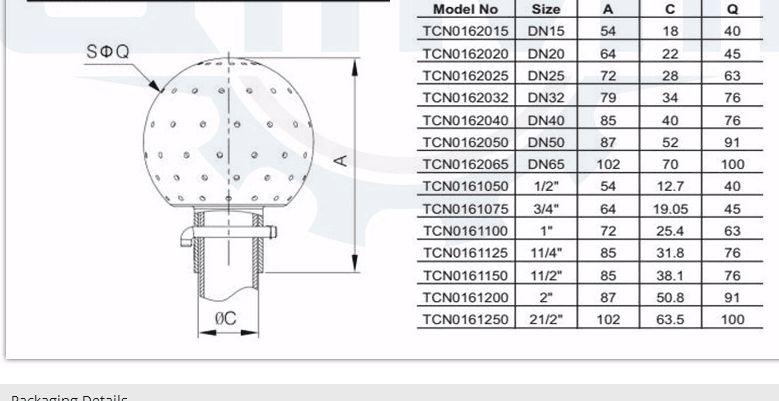 Санитарная роторная моющая головка из нержавеющей стали, носик водного резервуара, гигиеническая роторная моющая головка, фиксированный шарик для очистки