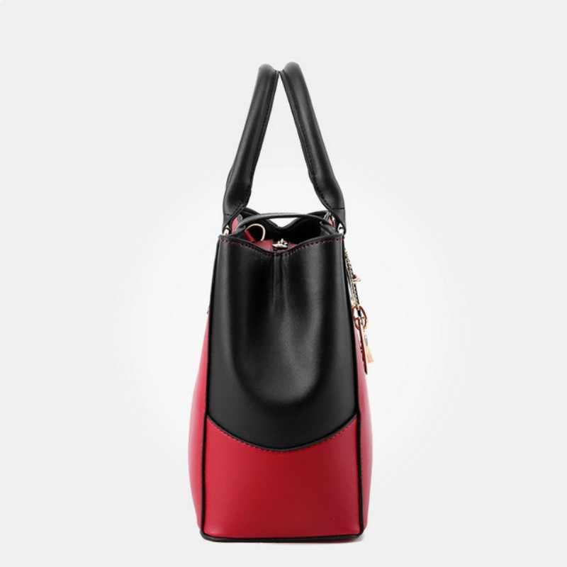 SNBS 100% Genuína Mulheres de couro bolsas de 2018 fêmea Nova Coreano doce em forma de moda bolsa Crossbody Bolsa de Ombro