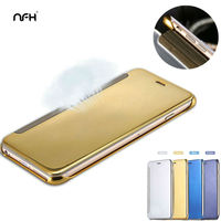 Luxury Mirror PU Leather Celular For Apple IPhone 5S SE 6S 6 Plus Ultra Thin Flip
