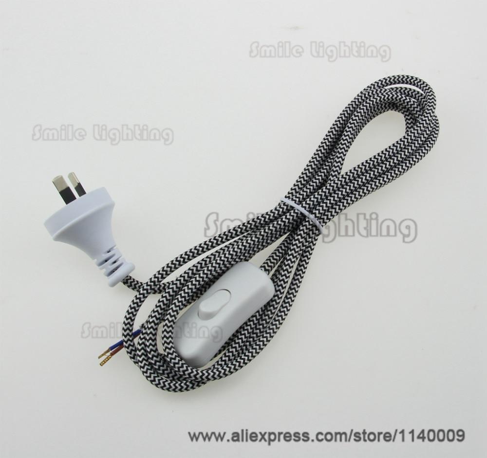 1 Piece SAA Certified Pendant Light Lamp Holder Cord Sets 3M Fabric ...