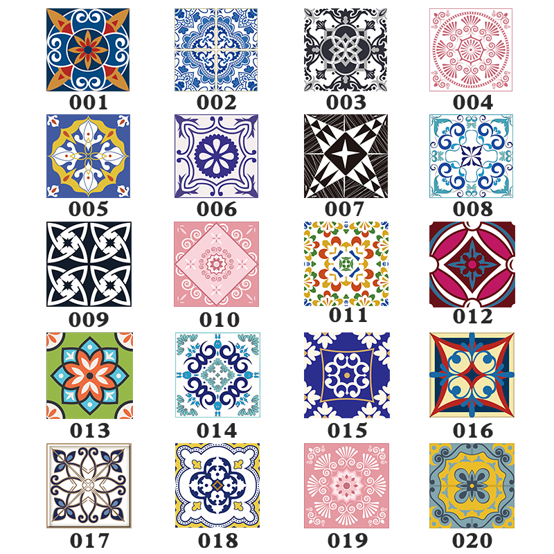 15pcs/set 8/10/12/15cm Floor Tiles Diagonal Wall Stickers Desk Wardrobe Decoration Art Mural Bathroom Waist Line PVC Wall Decals(China)