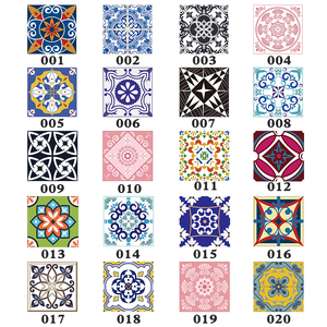 15pcs/set 8/10/12/15cm Floor Tiles Diagonal Wall Stickers Desk Wardrobe Decoration Art Mural Bathroom Waist Line PVC Wall Decals(China)