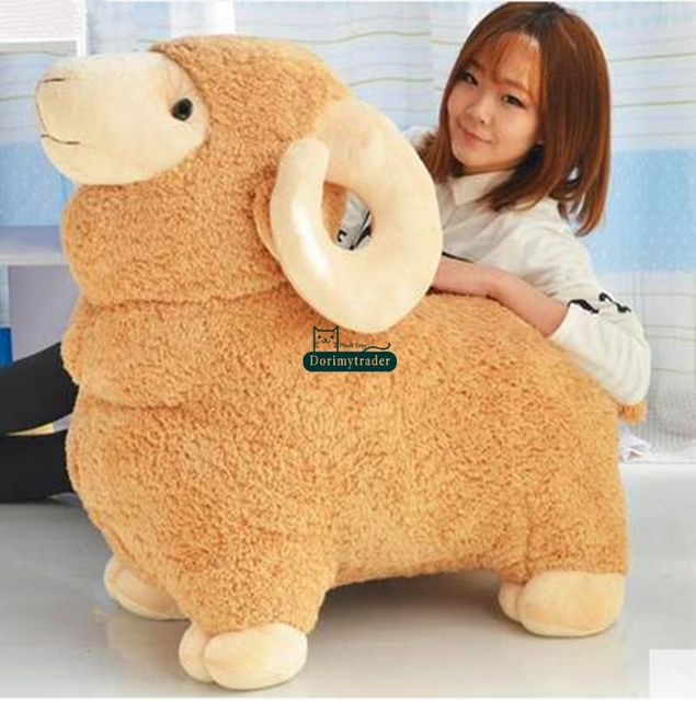 Dorimytrader 90cm Huge Plush Animal Sheep Stuffed Toy 35'' Giant Soft Juguetes Goat Plush Doll Pillow Baby Gift DY61288