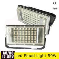 Ultra Thin LED Flood Light 12 Volt Waterproof IP65 50w AC/DC12-85v Searchlight Led Exterior Projecteur Outdoor Floodlight