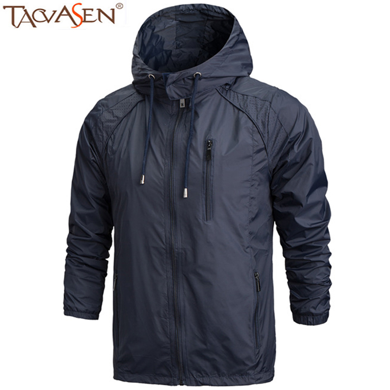 TACVASEN Hiking Jacket Sun-Protective Men Waterproof Summer