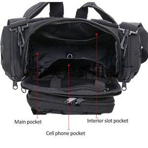 Image 3 - Taktyczna wojskowa torba na biodro Molle torba sportowa na ramię wodoodporna Oxford Camping Travel turystyka Trekking kamuflaż torby XA739WA