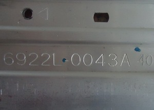 Image 4 - New100 % עבור 47CE923 מנורת בר Skyworth 47E600Y מנורת בר 6922L 0043A 6916L1009A 66LED 597 MM
