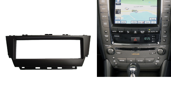 Din CD DVD Stereo Audio Panel For Lexus IS300 Fascia Radio IS 300 Refitting In-Dash Mount Install Dash Kit Face Plate 0