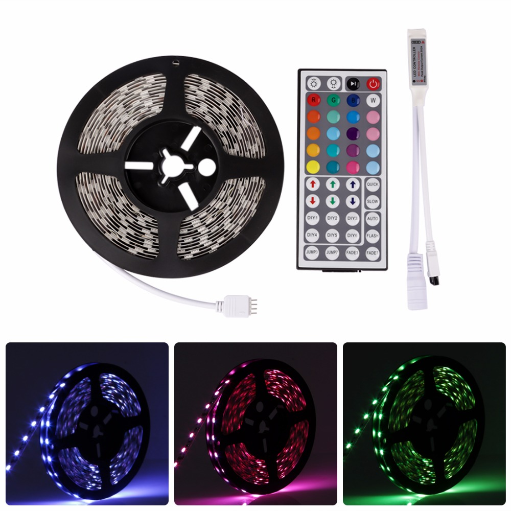 5M RGB LED Strip Light 12V 3528 5050 5630 Warm Cool White RGB 300led SMD Ribbon For Ceiling Counter Cabinet Light Non-waterproof 24a усилитель повторитель сигнала extend led 5050 3528 rgb полосы света