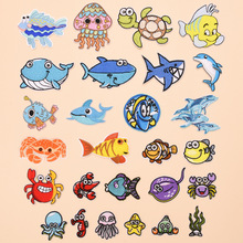 Various Cute sea animal dolphin whale Patch Embroidered Applique Sewing Clothes Stickers Garment Apparel Accessories.
