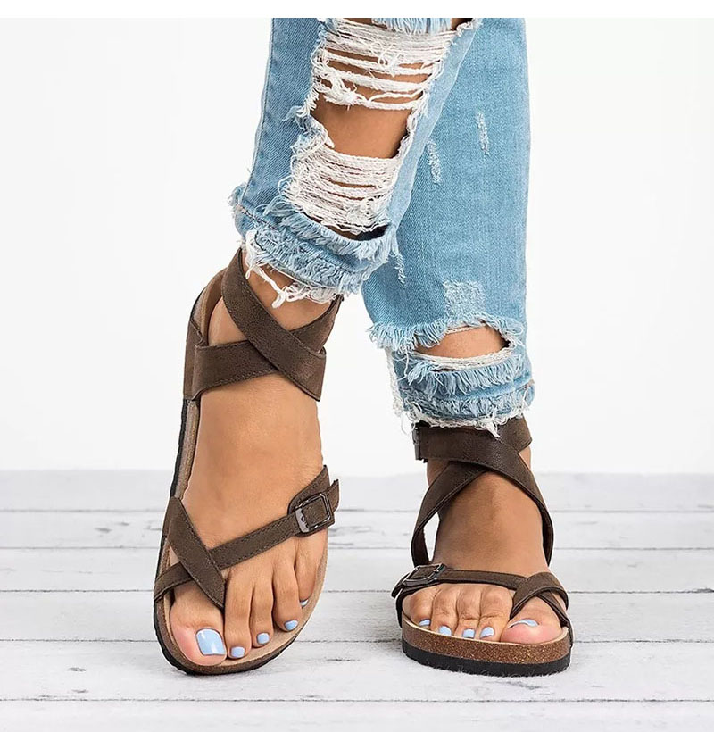 49cf90fa Sandalias directas de fábrica para mujer 2019 zapatos de verano Sandalias  planas para playa Chaussures mujer Clog más tamaño 43 Casual Flip Flop