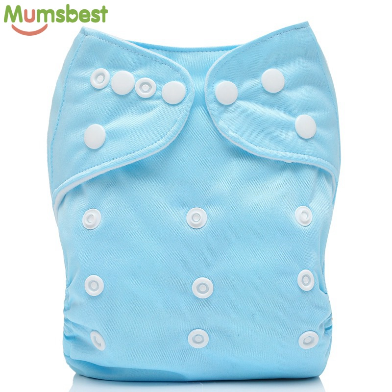 [Mumsbest] 1 Pc Baby Cloth Diaper Pocket Washable Solid Color Nappy Adjustable Many Colors Available Cloth Diapers 3-15kg